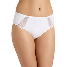 Buy Triumph Flower Passione Tai Briefs, White Online at johnlewis.com