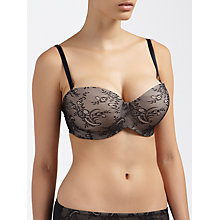 Buy John Lewis Simone DD Plus Moulded Strapless Bra, Black / Nude Online at johnlewis.com
