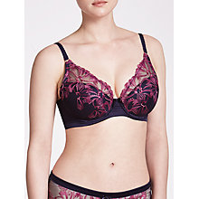 Buy John Lewis Alicia DD Plus Embroidered High Apex Bra, Haze Blue Online at johnlewis.com