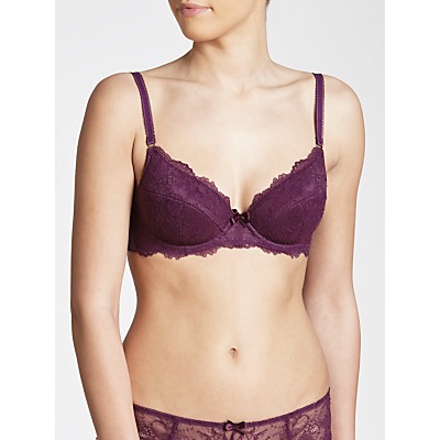 COLLECTION by John Lewis Genevieve Plunge Bra, Bramble