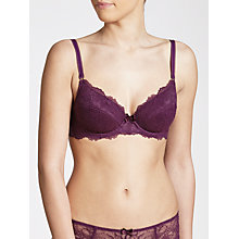 Buy John Lewis Genevieve Plunge Bra, Bramble Online at johnlewis.com