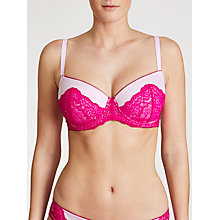 Buy John Lewis Jasmine Moulded Balcony Bra, Cherry Blossom / Fuchsia Online at johnlewis.com
