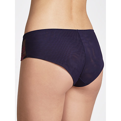 Buy COLLECTION by John Lewis Alicia Embroidered Briefs, Haze Blue Online at johnlewis.com