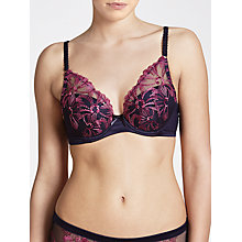 Buy John Lewis Alicia Embroidered High Apex Bra, Haze Blue Online at johnlewis.com