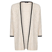 Buy Mango Faux Leather Trim Cardigan Online at johnlewis.com