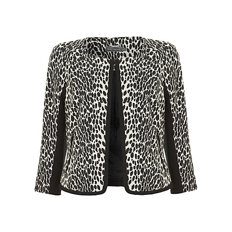 Buy Mint Velvet Leopard Print Jacquard Jacket, Multi Online at johnlewis.com