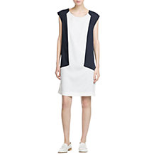 Buy Mango Bi-Colour Shift Dress, Dark Blue Online at johnlewis.com