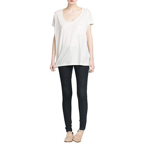Buy Mango Cotton T-Shirt, Natural White Online at johnlewis.com
