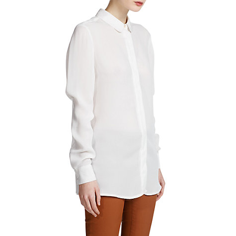 Buy Mango Striped Textured Shirt, Natural White Online at johnlewis.com