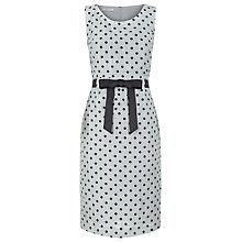 Buy Precis Petite Printed Spot Shift Dress, Grey Online at johnlewis.com