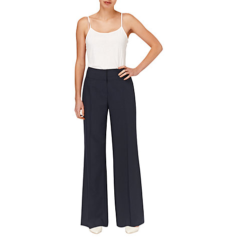 Buy Phase Eight Harriet Wide Leg Trousers, Navy Online at johnlewis.com