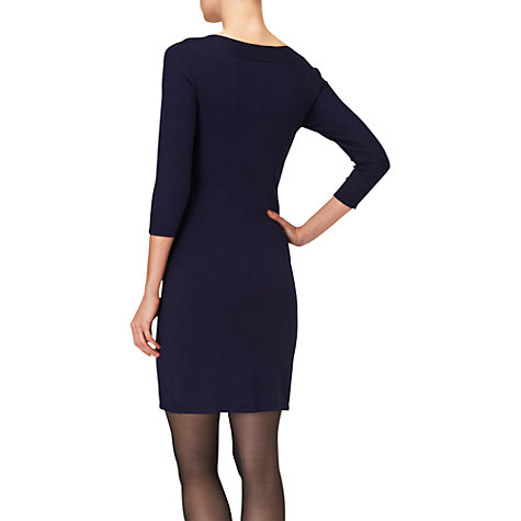 Buy Phase Eight Whitney Weave Dress, Navy Online at johnlewis.com