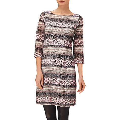 Buy Phase Eight Zadie Lace Print Dress, Pale Pink Online at johnlewis.com