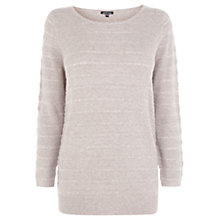 Buy Warehouse Bobble Stitch Crew Jumper, Beige Online at johnlewis.com
