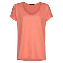 Buy Mango Cotton Short Sleeve T-Shirt, Medium Red Online at johnlewis.com