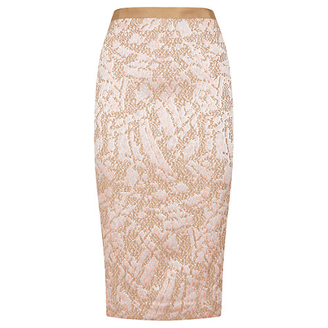 Buy Fenn Wright Manson Nadia Pencil Skirt, Pink Multi Online at johnlewis.com