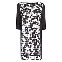 Buy Mango Watercolour Printed Dress, Natural White Online at johnlewis.com