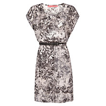 Buy Mango Braided Belted Dress, Natural White Online at johnlewis.com