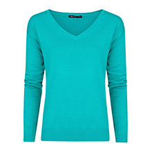 Buy Mango Essential V-Neck Jumper, Dark Green Online at johnlewis.com