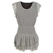 Buy Mango Ruffled Chiffon Dress, Black Online at johnlewis.com