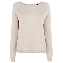 Buy Warehouse Exposed Seam Jumper, Beige Online at johnlewis.com