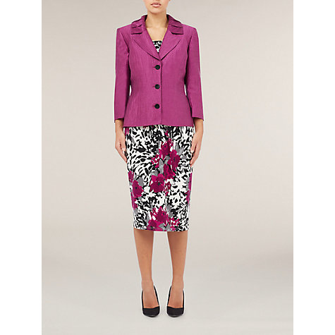 Buy Precis Petite Pleat Collar Jacket, Pink Online at johnlewis.com