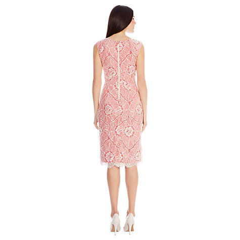 Buy Coast Lexique Lace Dress, Coral Online at johnlewis.com