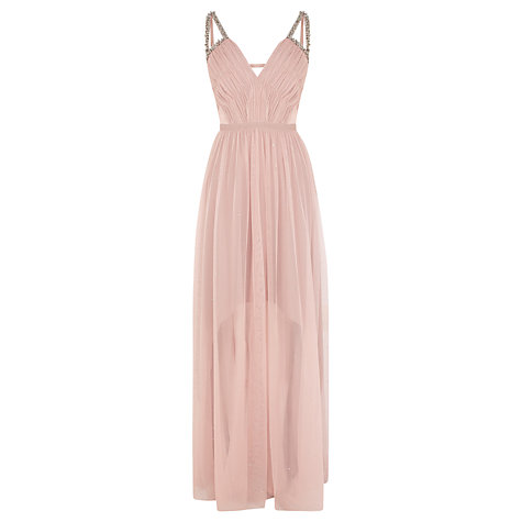 Buy Coast Starlight Embellished Maxi Dress, Blush Online at johnlewis.com