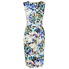Buy Phase Eight Sequined Print Dress, Charcoal Online at johnlewis.com