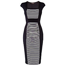 Buy Phase Eight Stripe Illusions Dress, Navy/Ivory Online at johnlewis.com