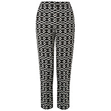 Buy Hobbs Amara Trousers, Black/Ivory Online at johnlewis.com