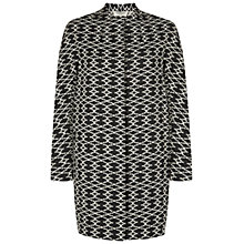 Buy Hobbs Amara Coat, Black Ivory Online at johnlewis.com