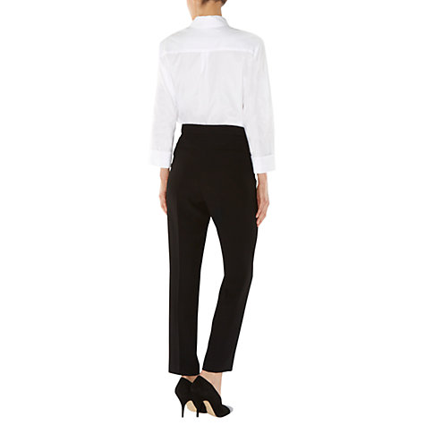 Buy Hobbs Sascha Trousers, Black Online at johnlewis.com