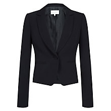 Buy Hobbs Invitation Lucia Jacket, Navy Online at johnlewis.com