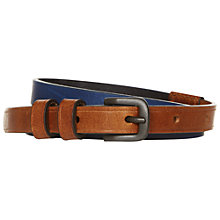Buy NW3 by Hobbs Frankie Belt, Blue/Tan Online at johnlewis.com