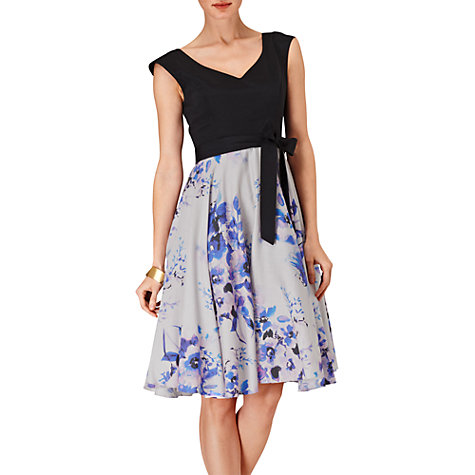 Buy Phase Eight Amalfi Fit And Flare Dress, Black Multi Online at johnlewis.com