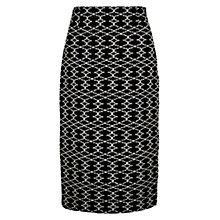 Buy Hobbs Amara Skirt, Black Ivory Online at johnlewis.com