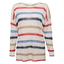 Buy East Spray Dye Stripe Jumper, Pearl Online at johnlewis.com