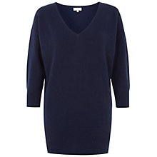 Buy Hobbs Izabella Cashmere Jumper, Navy Online at johnlewis.com