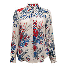 Buy East Hana Silk Print Shirt, Pearl Online at johnlewis.com