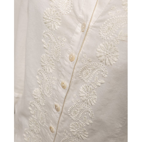 Buy East Embroidered Shirt, Pearl Online at johnlewis.com