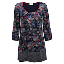 Buy East Blossom Print Jersey Tunic, Ink Online at johnlewis.com