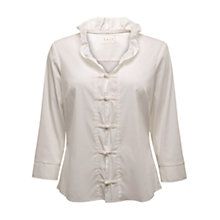 Buy East Frill Collar Shirt, White Online at johnlewis.com