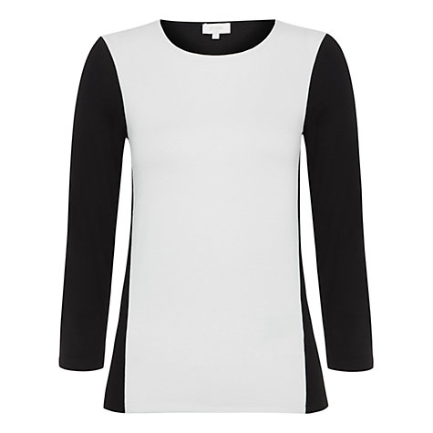 Buy Hobbs Elisa Top, Black Ivory Online at johnlewis.com