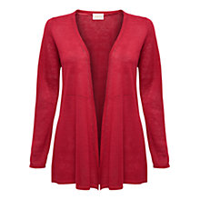 Buy East Linen Swing Cardigan, Pillarbox Red Online at johnlewis.com
