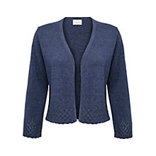 Buy East Pointelle Cropped Cardigan, Denim Online at johnlewis.com