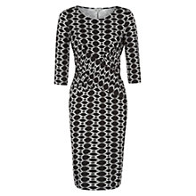 Buy Hobbs Luann Dress, Black Ivory Online at johnlewis.com