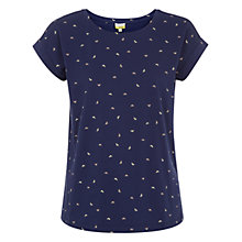 Buy NW3 by Hobbs Tiny Butterfly T-Shirt, Navy Online at johnlewis.com
