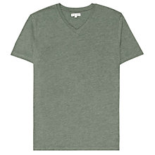 Buy Reiss Bless Dayton Short Sleeve V-Neck T-Shirt, Grey Marl Online at johnlewis.com