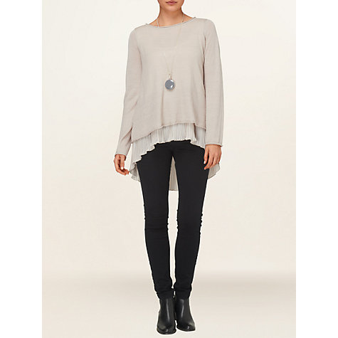 Buy Phase Eight Phillipa Pleat Jumper, Oatmeal Online at johnlewis.com